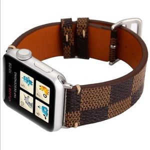 Accessories - Brand New Brown Checkered Apple Watch Band